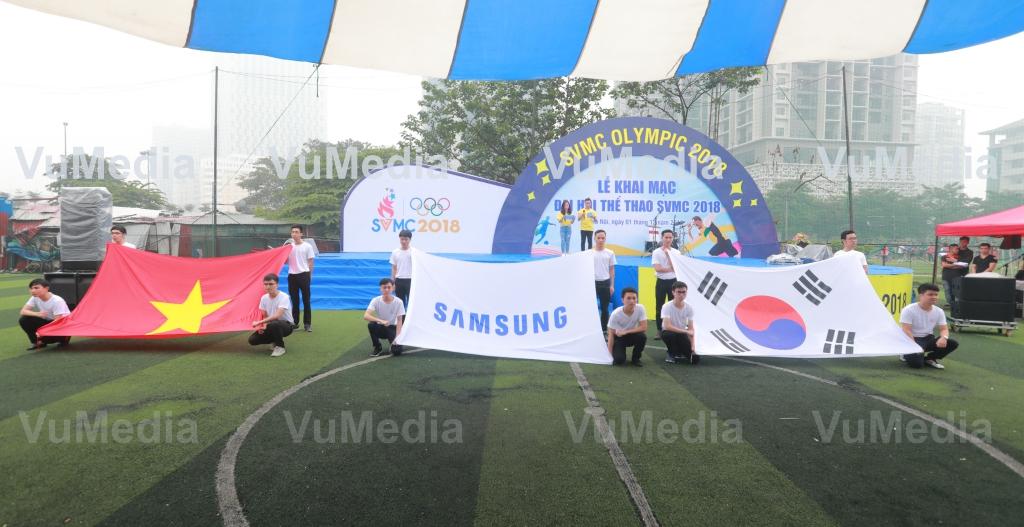 Lễ chào cờ, hát Quốc ca Việt Nam, Hàn Quốc