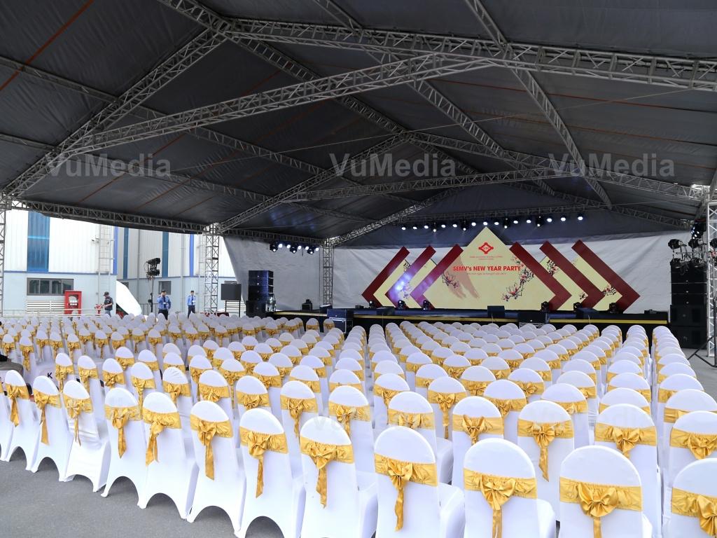 Khu vực tổ chức được VuMedia team chuẩn bị kỹ lưỡng chuyên nghiệp
